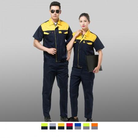 【晶輝】CH166-工廠機修電工服維修短袖夏裝工作服