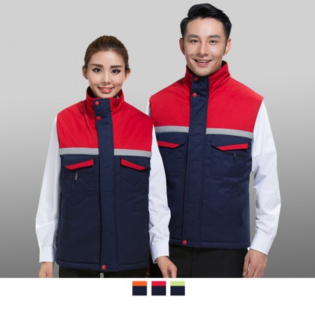 【晶輝】CH183-多口袋冬天鋪棉反光背心
