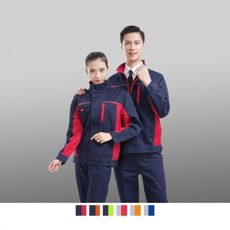 【晶輝】CH254-工廠汽車修護電焊耐髒耐磨長袖工作服(整套)