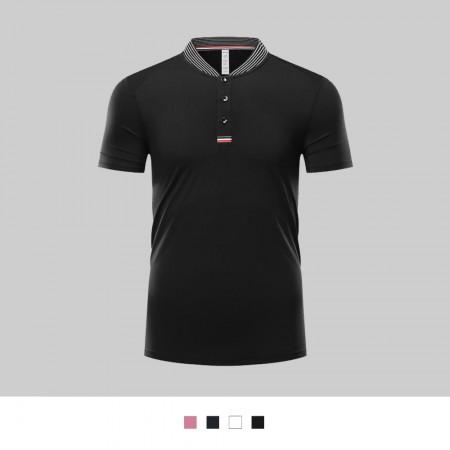 【晶輝】LS283-亨利領配色素面POLO衫