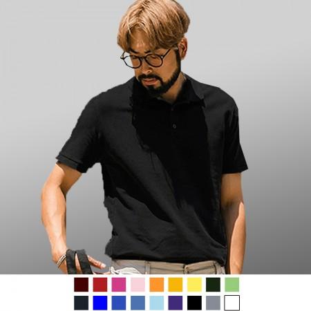 【晶輝】P0054-全素短袖素面POLO