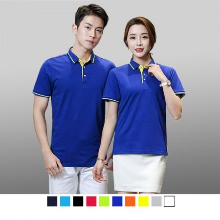 【晶輝】P2202 短袖素面領子配色袖口頂級短袖POLO衫/一件也可以買/高爾夫球