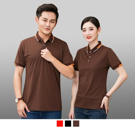 【晶輝】 P2205 短袖素面領子配色袖口頂級短袖POLO衫/可訂做加LOGO/一件也可以買