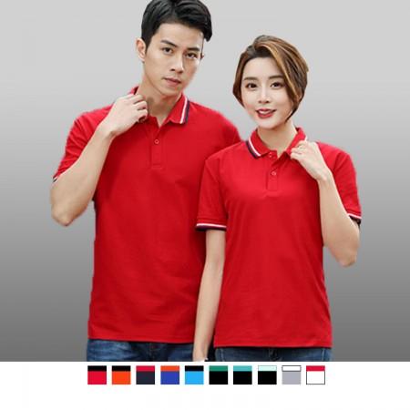 【晶輝】P2206 短袖素面領子配色袖口頂級短袖POLO衫/可訂做加LOGO/一件也可以買
