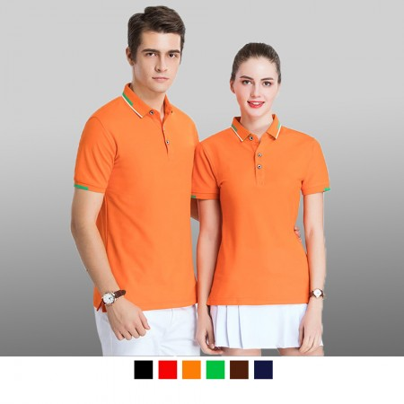 【晶輝】P2211 短袖素面領子配色袖口頂級短袖POLO衫/可訂做加LOGO/一件也可以買