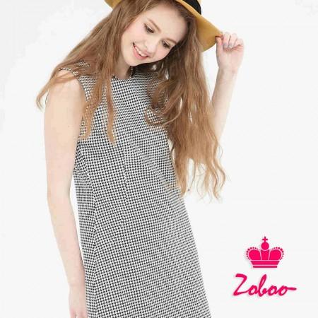 【晶輝】Q5010-無袖格紋連身裙