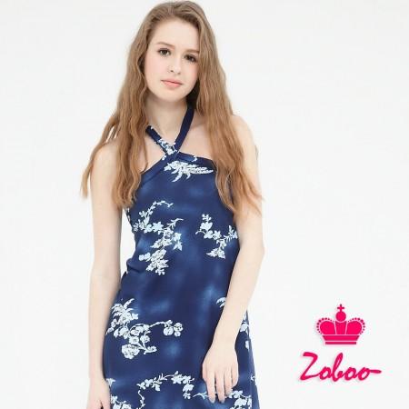 【晶輝】Q5018-肩帶花紋連身裙
