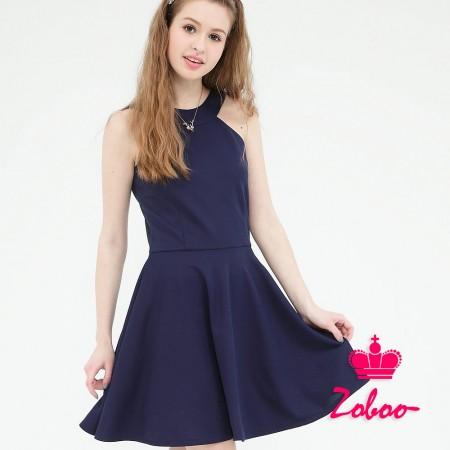 【晶輝】Q5026-肩帶丈青連身裙