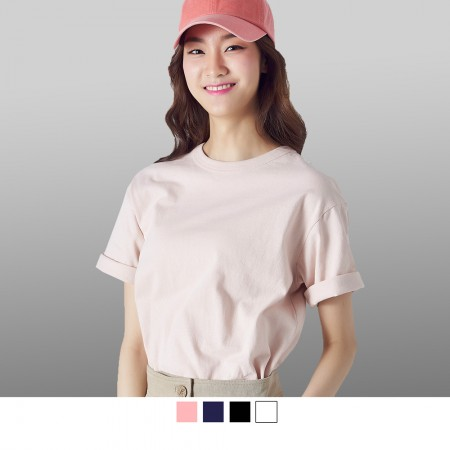 【晶輝】SL032-100%純棉彈性素面T恤