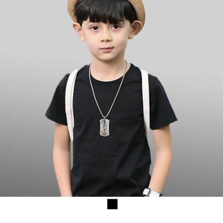 【晶輝】SL100-圓領領子加厚小朋友兒童專用純棉素面T恤