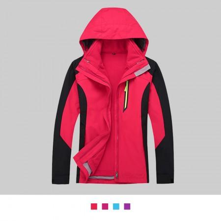 【晶輝】SS1624-女生腰身款經典二件式防風防潑水衝鋒外套(似GORE-TEX)