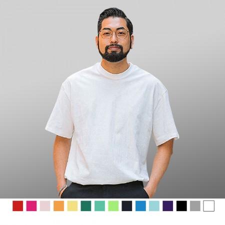 【晶輝】T0001-圓領加厚純棉素色T恤