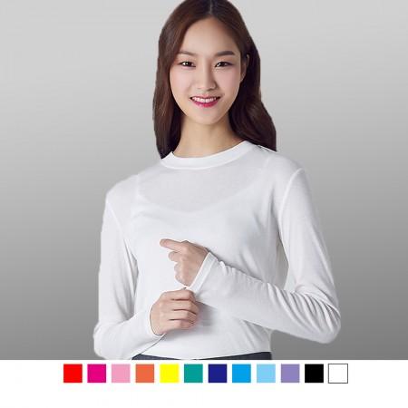 【晶輝】T1551-100%純棉彈性素面T恤