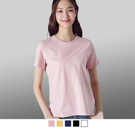 【晶輝】T8000-100%圓領純棉厚款素色圓領T